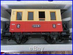 NIB LGB 72302 FAO SWARTZ G Scale Starter Train Set in Red Trunk