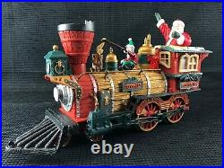 New Bright 384 Holiday Express Christmas Electric Animated 2001 Train Set WORKS