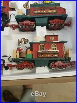 New Bright 384 Holiday Express Christmas Electric Animated Train Set SEE VIDEO
