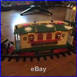 New bright holiday express, Dillards, reindeer train car train set