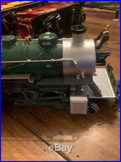 New bright train 3750 chicago northwestern railway engine Train Set 4 Cars