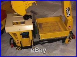 Playmobil G Scale Motorized Construction Locomotive Train & Gondola Car Set 4053