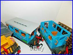 Playmobil-LGB Starter Train Set with 2 Locos, Track, Freight Cars, & Transformer