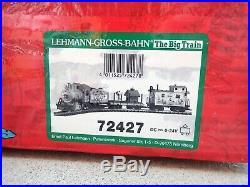 RARE & NIB! LGB Peanuts Snoopy Baseball Train Set 72427 G Scale Steam Locomotive