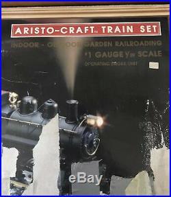 Rare ARISTO CRAFT Train Indoor/Outdoor Garden Set 129 Scale #1 Gauge Smoke