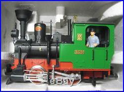 Rare Lgb 72402 100% Complete Smoke & Sound Train Set Track Engine Power Crane
