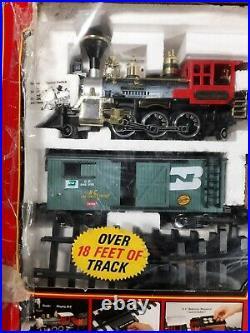 The Great American Express Railroad Train Set 185 Smoking Engine Bright RARE