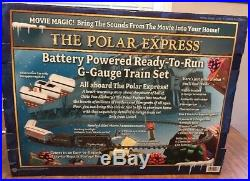 The Polar Express Ready-To-Run Battery Powered G-guage Train Set Lionel used