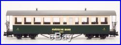 Train Line45 Set 2 Personenwagen RHB B2251 und B2252 grün/beige, Spur G