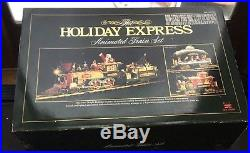 Train Set Animated The HOLIDAY EXPRESS NEW BRIGHT #380 IN BOX Works RARE