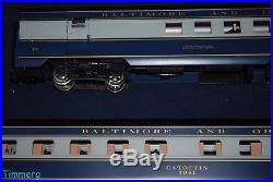 USA Trains 4 Car Pass Set Baltimore & Ohio B&O Capital Limited Blue/Gray