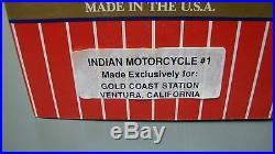 USA Trains Custom Run Indian Motorycycle 3 Car Set Boxcar Extremely Rare Nib