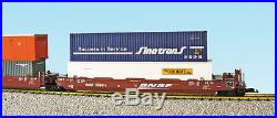 USA Trains G Scale Intermodal 5 Unit Articulated Set R17160 BNSF (No Containers)