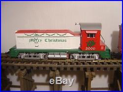 USA Trains G Scale R72306 X-mas Freight Set Nw-2 Train Set New In Original Box