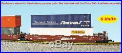 USA Trains R17160 G BNSF Intermodal 5 Unit Articulated Set