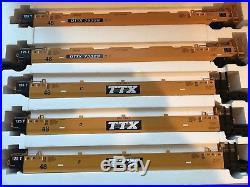 USA Trains TTX 5 car Intermodal set (No Containers)