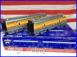 USA trains g scale Rio Grande F3AB set Phoenix sound both powered
