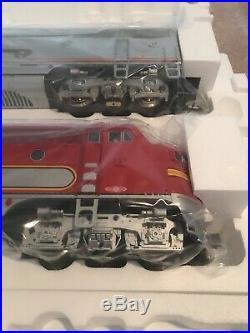 Usa trains G scale diesel locomotive EMD F3 AB Set Santa Fe War Bonnett NIB