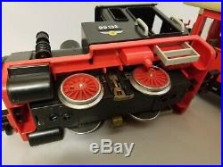 Vintage 1980 Playmobil Train Set G Scale Engine 99132 cars Free Shippin 4051