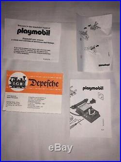 Vintage 1980s Playmobil Train Set 4002 No Tracks Original Box G Scale