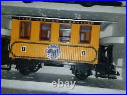 Vintage 1994 new in box LGB 72312 Lake George steam train Set, G Garden Scale