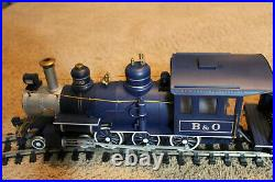 Vintage G-Scale Bachmann Big Hauler Royal Blue Train Set in Box with 4-6-0 Engine