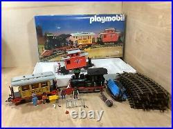 Vintage Geobra Playmobil 3958 Train Set Railroad WithOriginal Box G Scale Incomple