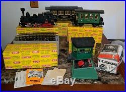 Vintage Lehmann LGB G Scale Train Set 2071D Steam Engine+3061/3009 Cars+Track