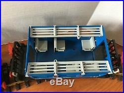 Vintage Playmobil Set 4000 Working Train Engine Cars w 16 LGB G Scale Track 1980