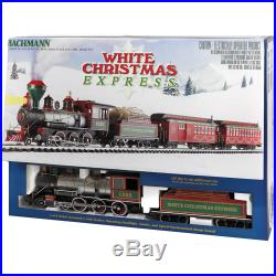 White Christmas Express Large Scale (G Scale) Electric Train Set Ready-to-Run